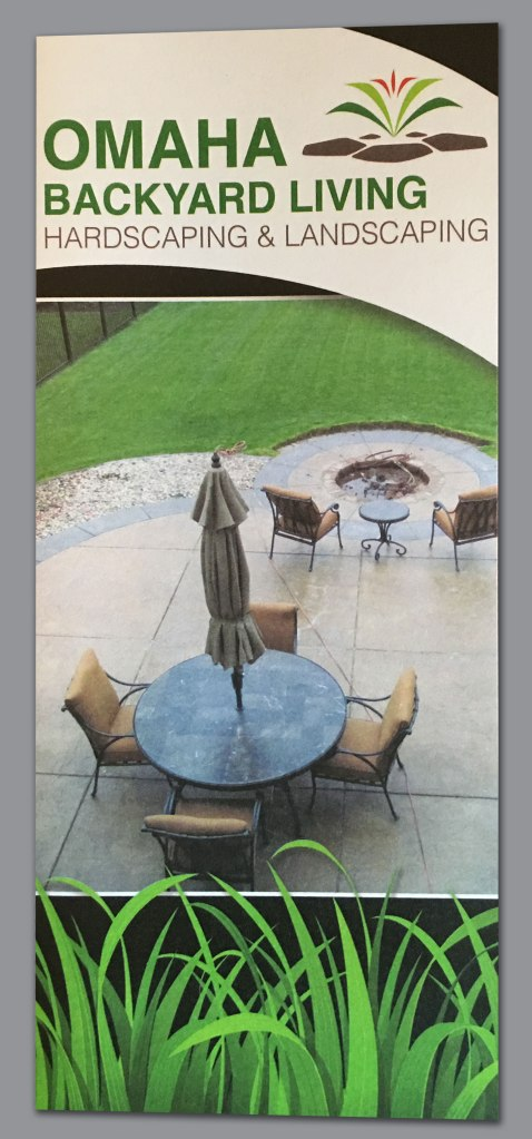 Omaha Backyard Living brochure (front)
