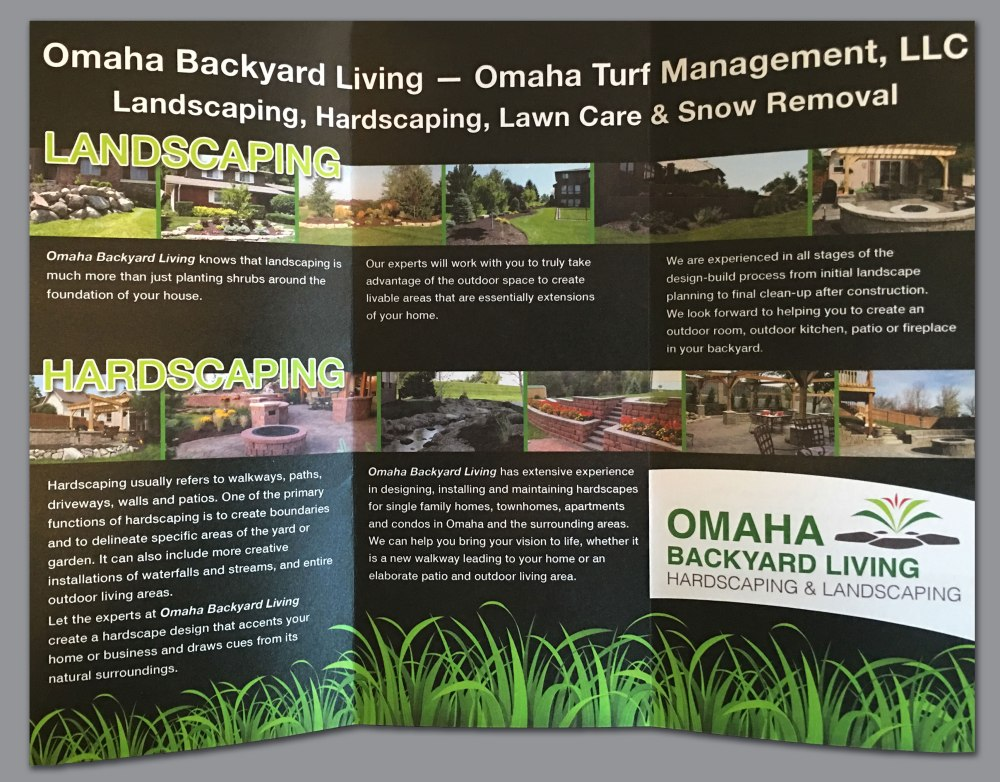 Omaha Backyard Living brochure (inside)