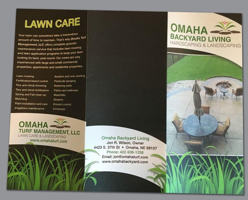 Omaha Backyard Living brochure (outside)